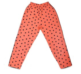 MABYN Boy Cotton Track pants - Orange