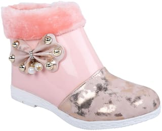 LNG LIFESTYLE Pink Girls Boots
