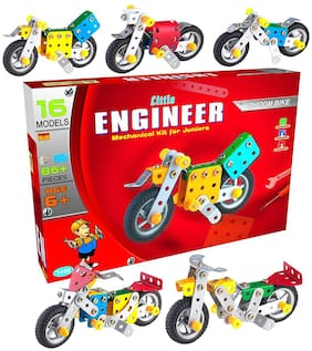Lodestone Kids Metal Construction Based Educational Toy/ Dhoom Bike;Age 6+ (Multicolour)