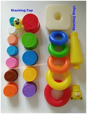 Lodestone Stacking Toys for Kids (Combo of 2 Toys)