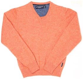 London Fog Boy Acrylic Solid Sweater - Orange