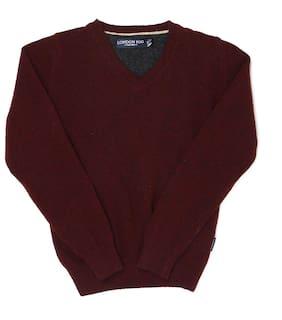London Fog Boy Acrylic Solid Sweater - Maroon