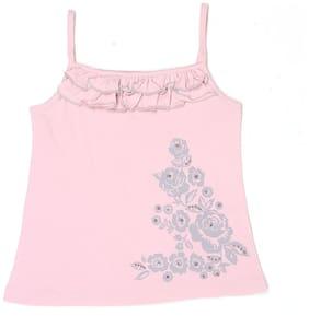 London Fog Girl Cotton Printed Top - Pink