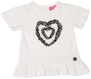 London Fog Girl Cotton Solid Top - White