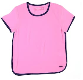 London Fog Girl Polyester Solid Top - Pink