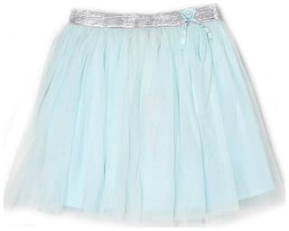 London Fog Girl Net Solid Flared skirt - Blue