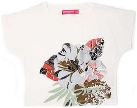 London Fog Girl Cotton Printed Top - White