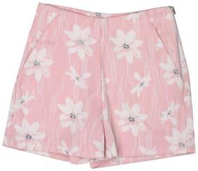 London Fog Girl Polyester Printed Regular shorts - Pink
