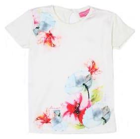 London Fog Girl Polyester Solid T shirt - White