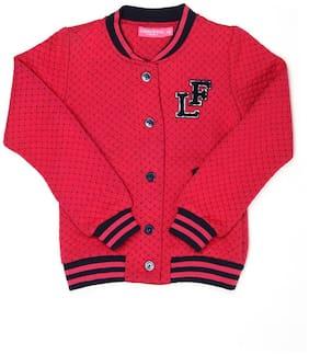 London Fog Girl Polyester Solid Winter jacket - Pink