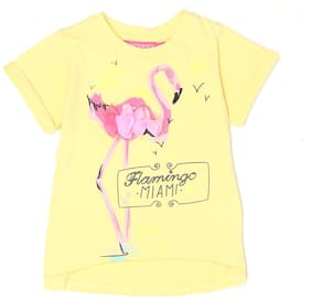 London Fog Girl Cotton Solid Top - Yellow