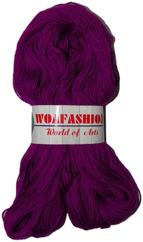 Lovable Acrylic Hand Knitting Yarn (Dark Purple) (Hanks-170gms)