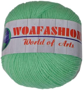 WOAFASHIONS LOVABLE Acrylic Hand Knitting Yarn (Seafoam-Green) (200g)