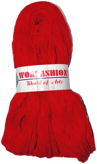 WOAFASHIONS LOVABLE Acrylic Hand Knitting Yarn (Red) (Hanks-170g)
