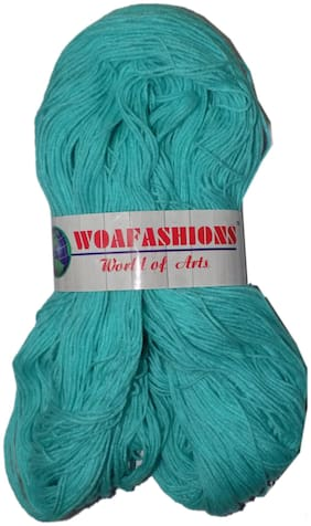 WOAFASHIONS LOVABLE Acrylic Hand Knitting Yarn (Arctic Blue) (Hanks-170gms)