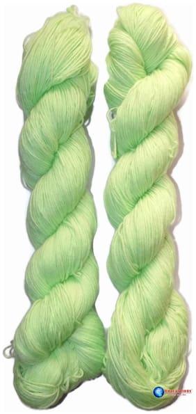 Lovable Acrylic Hand Knitting Yarn (Aple Green)(Hanks-170g)