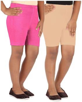 Lula Girl Blended Solid Regular shorts - Brown