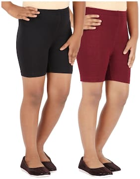Lula Girls Spandex Shorts -pack Of 2 (cb01020216229112)