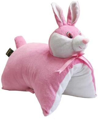 Lushomes Charming Light Pink Bunny Cushion (Size: 35x28 cms)