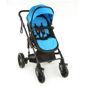 Luvlap Premier Pram -blue ( For Babies Upto 25 Kgs)