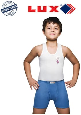 Lux Vest For Boys - White , Set of 1