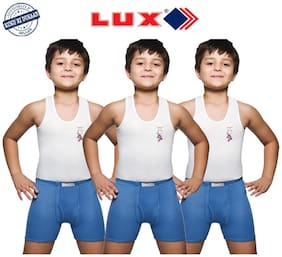 Lux Combo For Boys - White , Set of 3