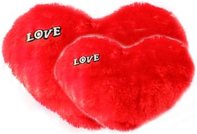 Luxantra Furry Love Heart Valentine - 40 cm  (Red)