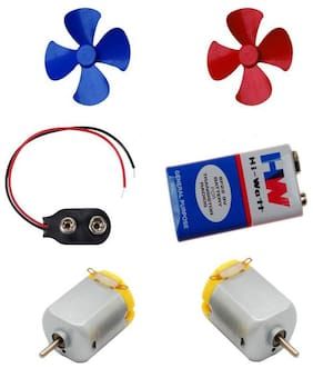 M Mod Con 2 Pcs Mini Toy Motor + 2 pcs Fan blade for RC Car;toys;science projects DIY