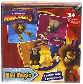 Madagascar Mini Magic 3 Puzzle Trays