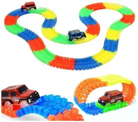 Magic Tracks Mega Set with 1 LED Race Car and 18 ft. of Flexible, Bendable Glow in The Dark Racetrack, As Seen on TV
