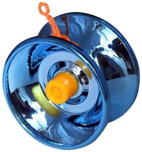 Magic Yoyo K1 Spin ABS Yoyo 8 Ball KK Bearing with Spinning String for Kids (1Pc) Metal Blue