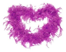 MagiDeal 2M Fluffy Feather Boa Strip Dressup Costume Party Wedding Decoration Purple