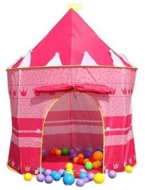 Magideal Indoor Outdoor Playhouse Children Girl Pink Pop-up Princess Tent Castle