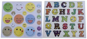 Magnetic Alphabets and Emoji Smiley Fridge Magnet Early Plastic Learning Toy for All Kids