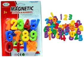 Magnetic Learning Numeric Numbers & Mathematical Signs  (Multicolor) Set of 1