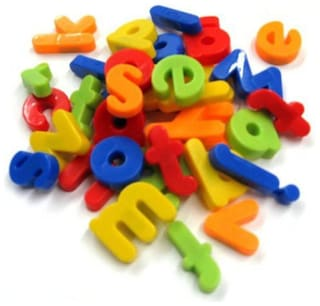 Magnetic Learning Letters Alphabets Kid's (Multi Color) 1Pc