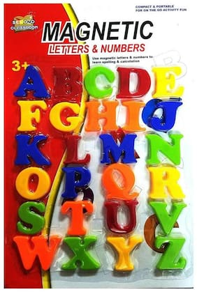 MAGNETIC LEARNING CAPITAL ALPHABET FOR KIDS ( MULTICOLOUR )