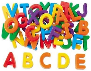 Magnetic Learning Letters Alphabets , Premium Quality ABCD  (Multicolor)