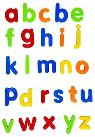 Magnetic Letters  for Educating Kids in Fun -Educational Alphabet (Set of 1) MultiColor