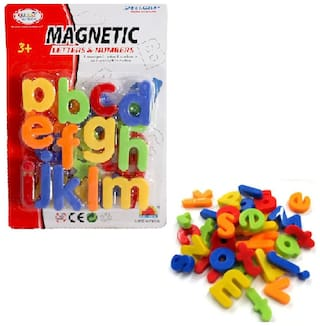 Magnetic Toy for Preschool Learning, Spelling Albhabetic Small (Set of 1) MultiColor