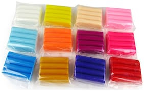 Make N Bake Polymer Modelling Clay, 12 Colors, 300 GMS in Total