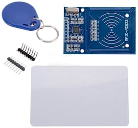 MAKER AND HACKER MFRC-522 RC522 RFID RF IC card reader  module with 1 RFID Tag and 1 RFID Keychain