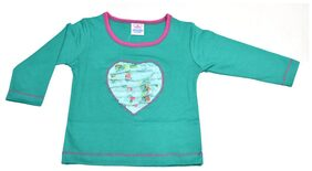 Mama & Bebe Green Full Seleeves T-Shirt