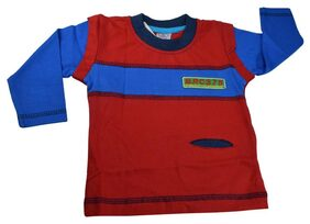Mama & Bebes Infant Wear - Boys Full Sleeve T Shirt ,Red