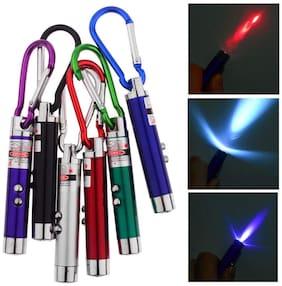 Martand Buy 1 Get 1 Free Mini 3 in 1 - Red Laser Light + White Light + Money Detector with Carabineer Clip / Key Chain