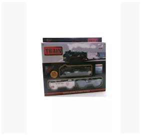 Marutionline Battery Operated Fright Car Goods Train Track Set