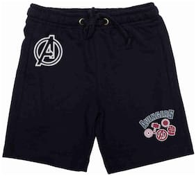 Marvel Avengers Navy Cotton Poly Shorts For Boys