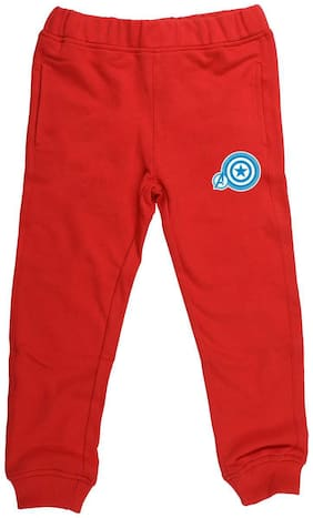 MARVEL AVENGERS Boy Solid Trousers - Red