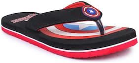 Marvel Kids Baby Boys Black Flip-Flop