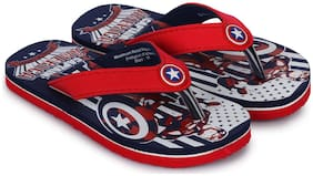 Marvel KIDS BOYS NAVY FLIP-FLOPS